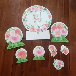 Sweet Baby Girl Floral Baby Shower Decorations